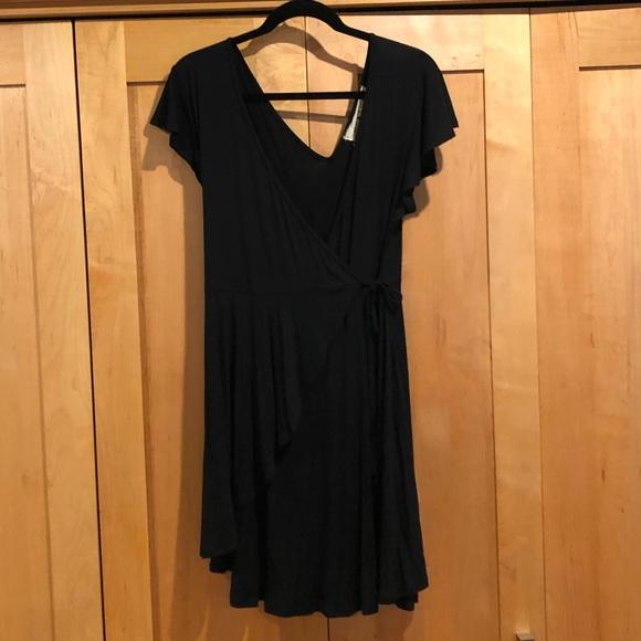 Beautiful black jersey summer dress.